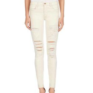 J Brand Distressed Skinny Jeans in Divo